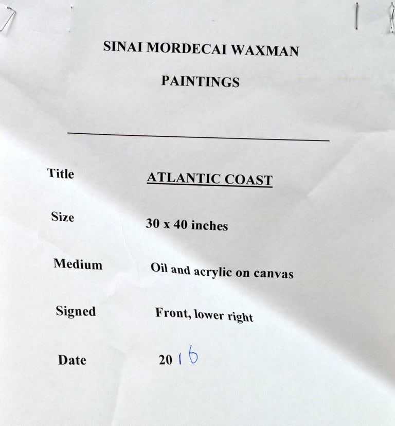 Contemporary Abstract Oil by Sinai M. Waxman, Well Exhibited American Artist For Sale 7
