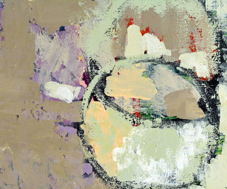 Modern Contemporary Abstract Oil by Sinai M. Waxman, Well Exhibited American Artist For Sale