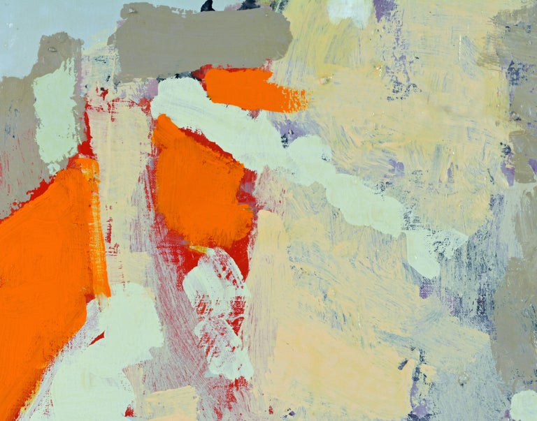 Painted Contemporary Abstract Oil by Sinai M. Waxman, Well Exhibited American Artist For Sale