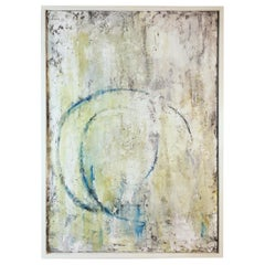 "Contemporary Abstract Painting Titled ""Loop"" by Robin Phillips, Framed"