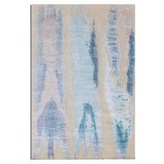 Contemporary Abstract Rug, Gray Design
