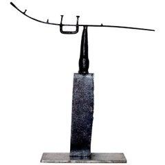Contemporary Abstract Welded Steel Sculpture by Scott Gordon (Shaman, 2010)