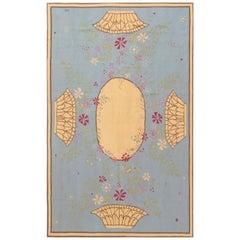 Contemporary Abusson Botanic Blue, Brown, Pink & Yellow Wool Rug by Thomas Jayne
