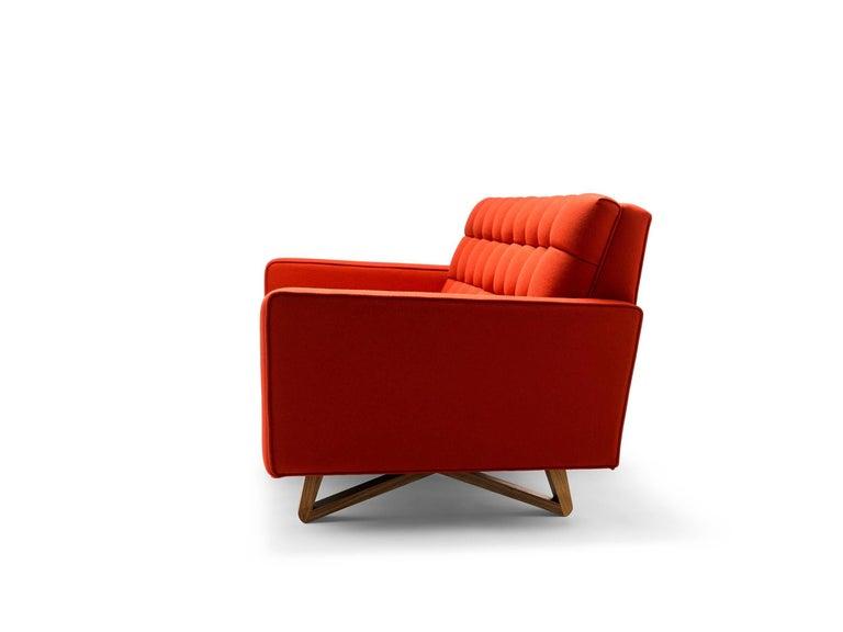 Modern Contemporary Adoni Sofa in Moon Melton Wool with Legs in Walnut or Oak For Sale