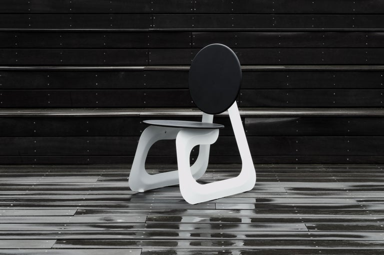 Contemporary Aeroformed Chair in Inflated Steel by Connor Holland For Sale 4