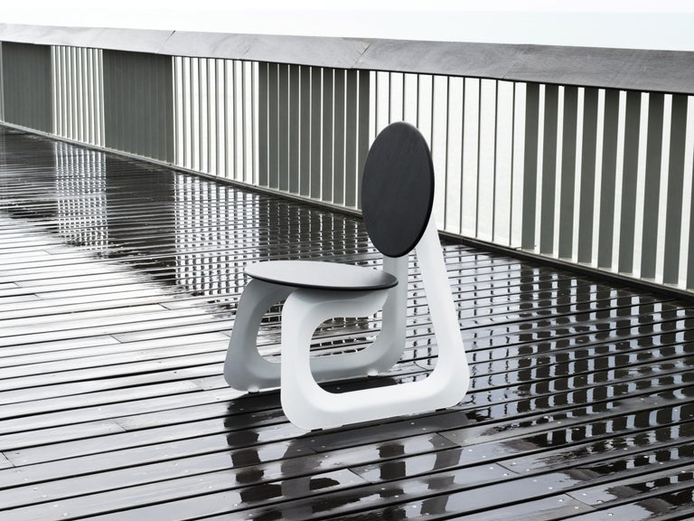 Contemporary Aeroformed Chair in Inflated Steel by Connor Holland For Sale 5