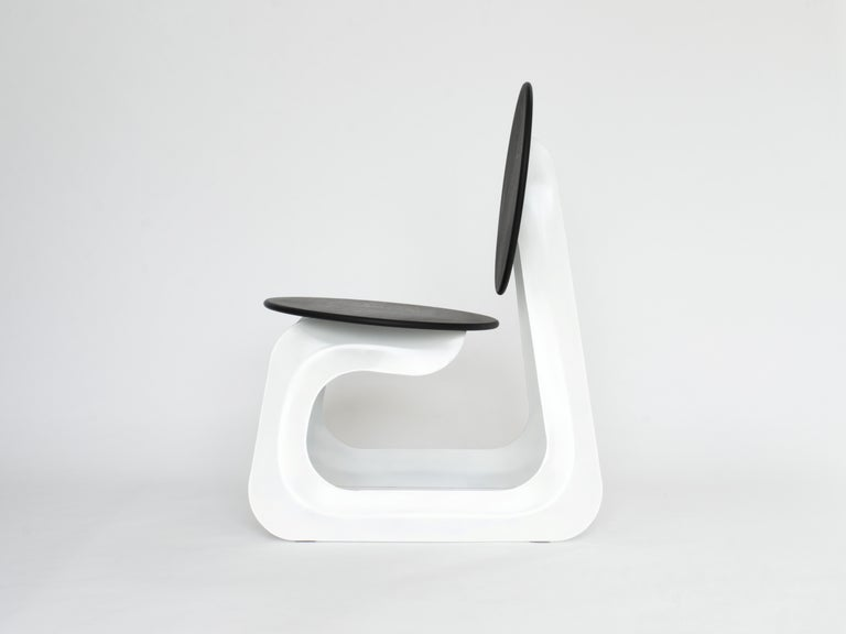 Modern Contemporary Aeroformed Chair in Inflated Steel by Connor Holland For Sale