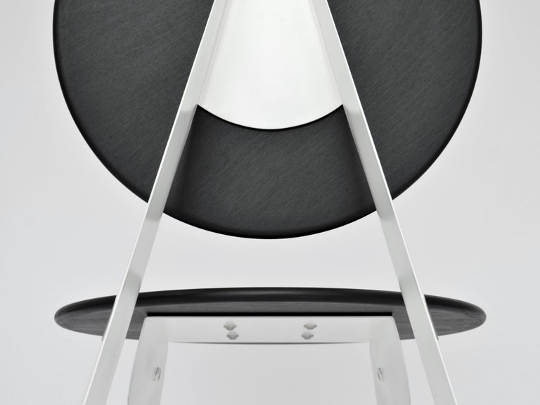 Ebonized Contemporary Aeroformed Chair in Inflated Steel by Connor Holland For Sale
