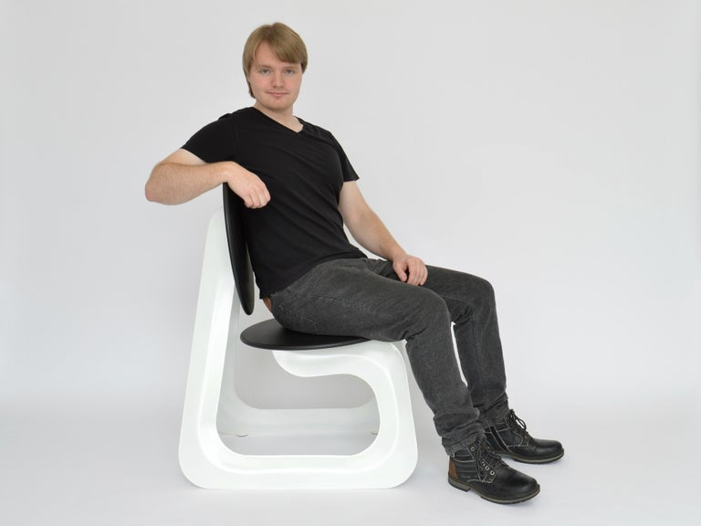 Contemporary Aeroformed Chair in Inflated Steel by Connor Holland In New Condition For Sale In Icklesham, EMEA - British Isles