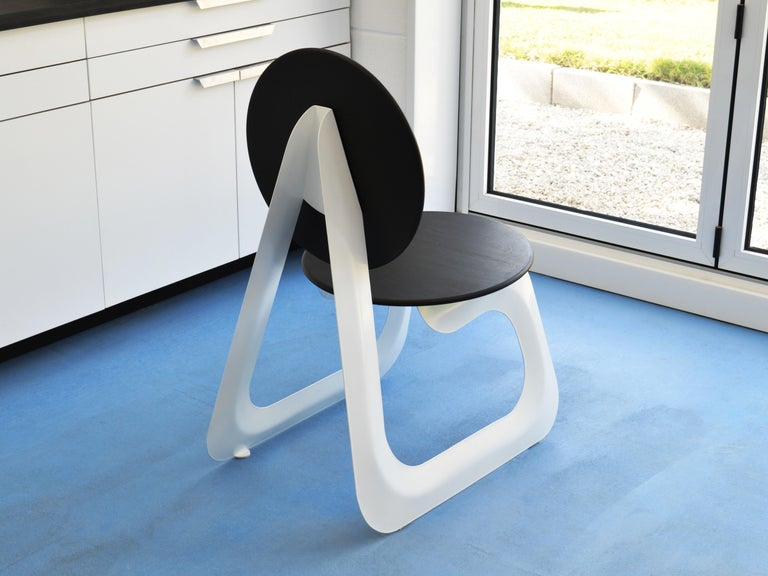 Contemporary Aeroformed Chair in Inflated Steel by Connor Holland For Sale 1