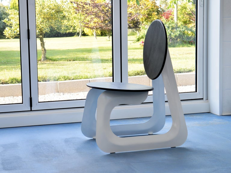 Contemporary Aeroformed Chair in Inflated Steel by Connor Holland For Sale 2
