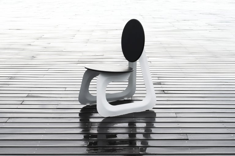 Contemporary Aeroformed Chair in Inflated Steel by Connor Holland For Sale 3