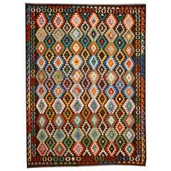Contemporary Afghan Kilim Rug