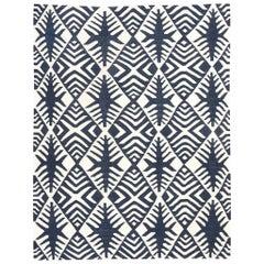 Contemporary African Kilim Handmade Flat-Weave Wool Rug