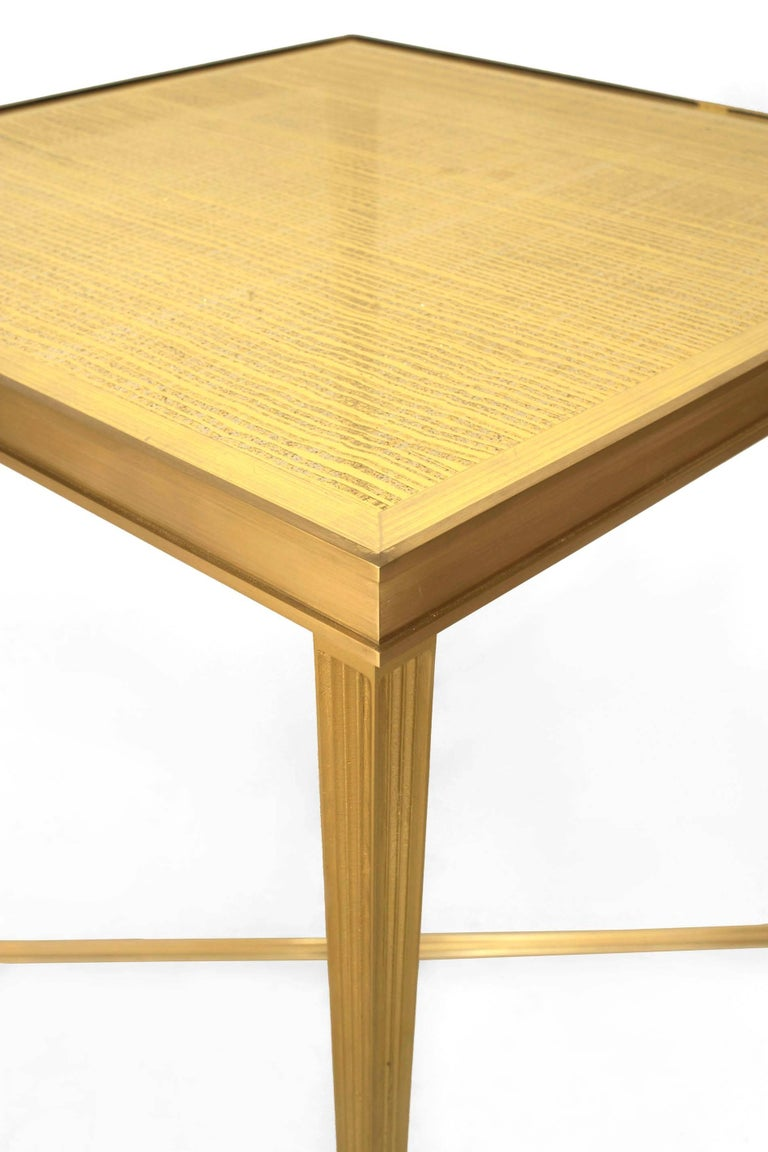 Contemporary American Gilt Eglomise End Table by Carole Gratale In Good Condition For Sale In New York, NY