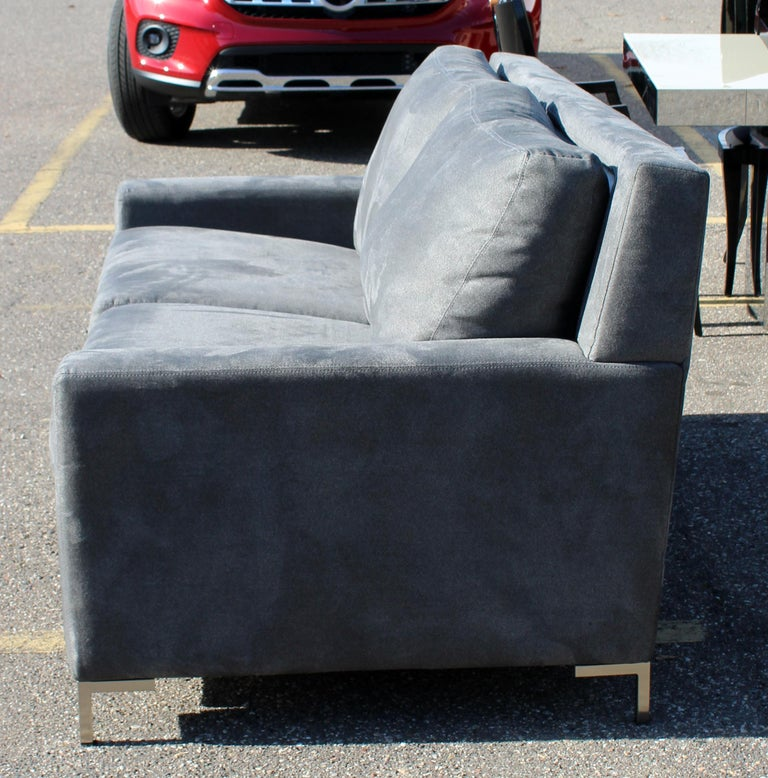 Contemporary American Leather Co. Comfort Sleeper Sofa In Good Condition In Keego Harbor, MI