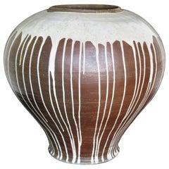 American Studio Ceramics Massive Ovoid Stoneware Vase