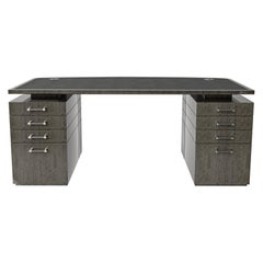 Davidson's Contemporary, Eclipse Writing Desk, in Figured Eucalyptus Grey