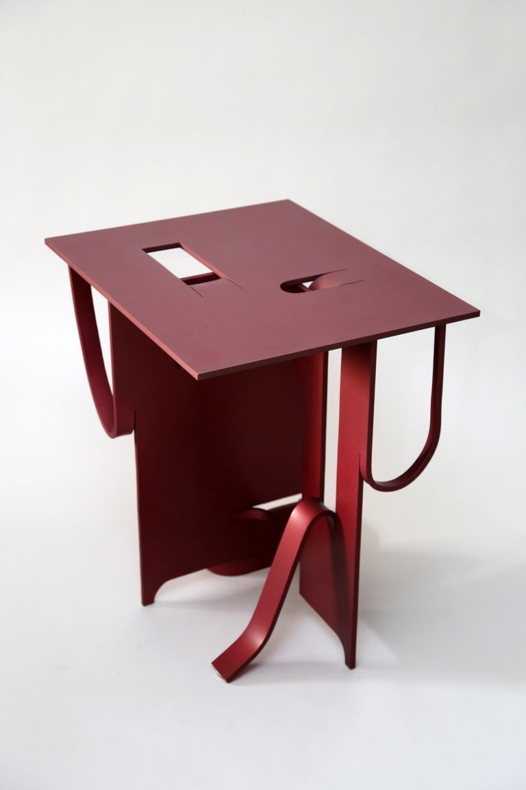 Contemporary Anodized Aluminium Table by Soft Baroque For Sale 8