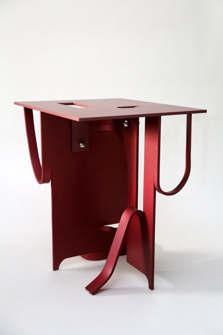 Contemporary Anodized Aluminium Table by Soft Baroque For Sale 9