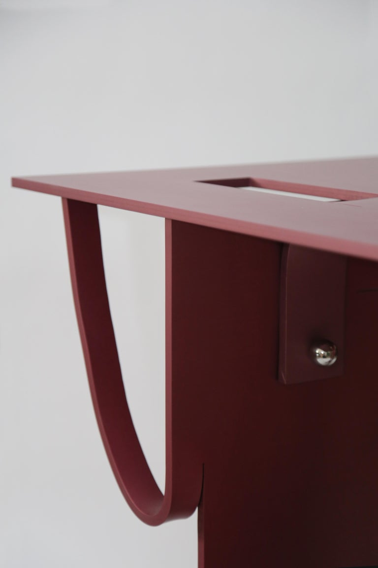 Contemporary Anodized Aluminium Table by Soft Baroque For Sale 12
