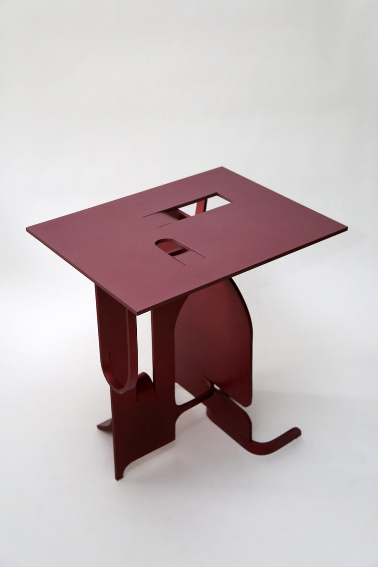 Unique handmade anodized aluminium table from the