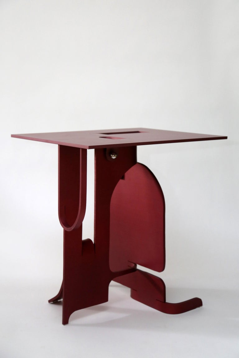 Post-Modern Contemporary Anodized Aluminium Table by Soft Baroque For Sale