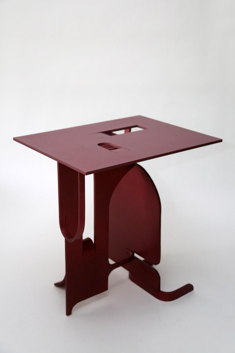 British Contemporary Anodized Aluminium Table by Soft Baroque For Sale