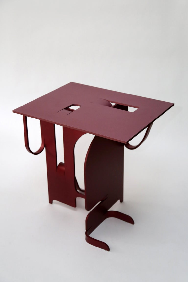 Contemporary Anodized Aluminium Table by Soft Baroque For Sale 1