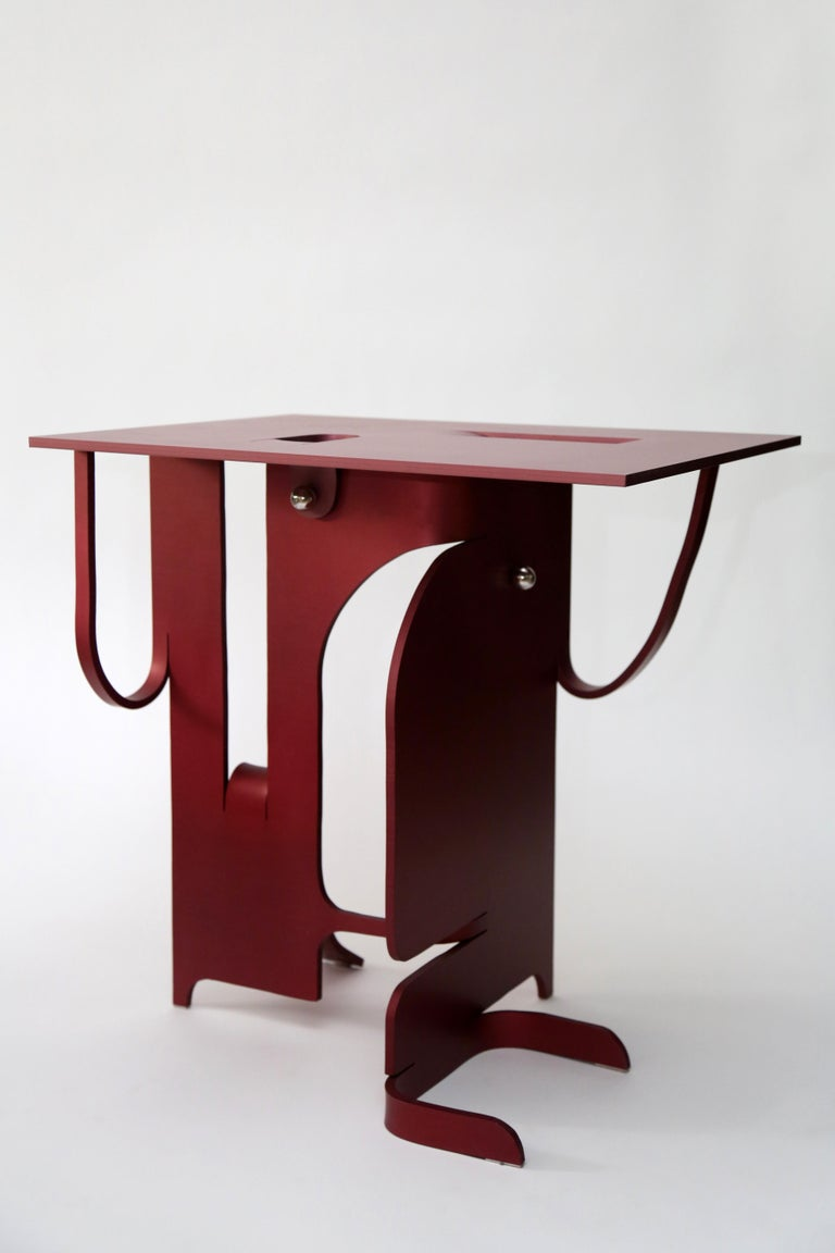 Contemporary Anodized Aluminium Table by Soft Baroque For Sale 2