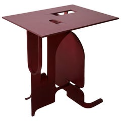 Contemporary Anodized Aluminium Table by Soft Baroque