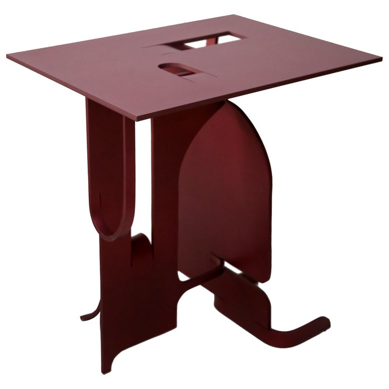 Contemporary Anodized Aluminium Table by Soft Baroque For Sale