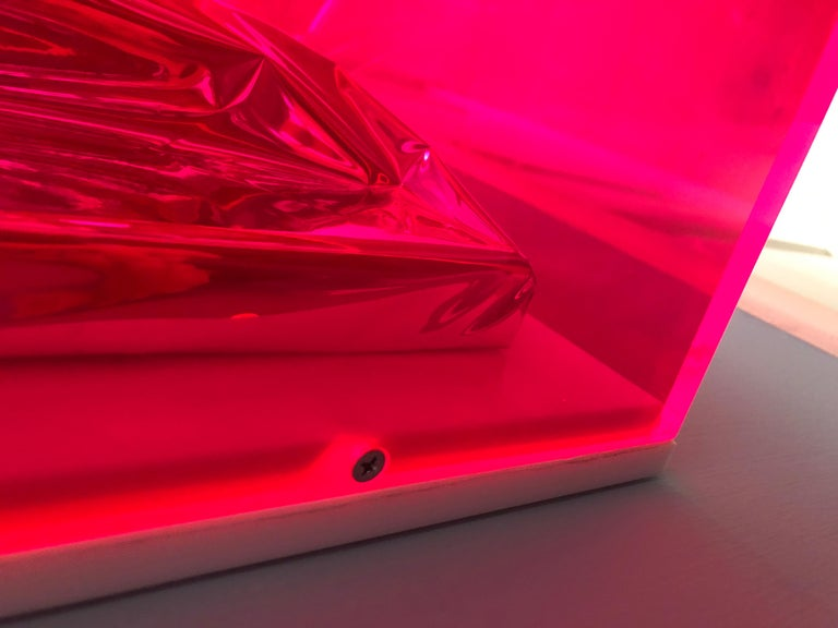 Contemporary Anselm Reyle Installation of Pink Foil And Acrylic in Glass Box For Sale 7
