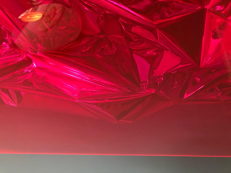 Contemporary Anselm Reyle Installation of Pink Foil And Acrylic in Glass Box For Sale 9