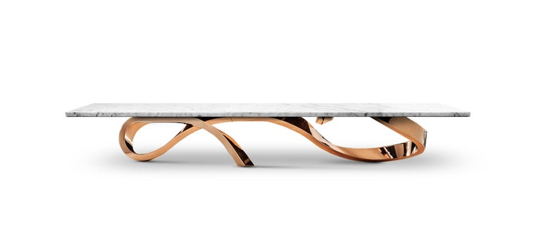 Coffee table Apate  Directly inspired by natural beauty of Iceland. Made of black Nero Marquina marble.   Bespoke sizes as well as other configurations available to order.   Designed by Railis Kotlevs in Iceland   Specifications:  Coffee