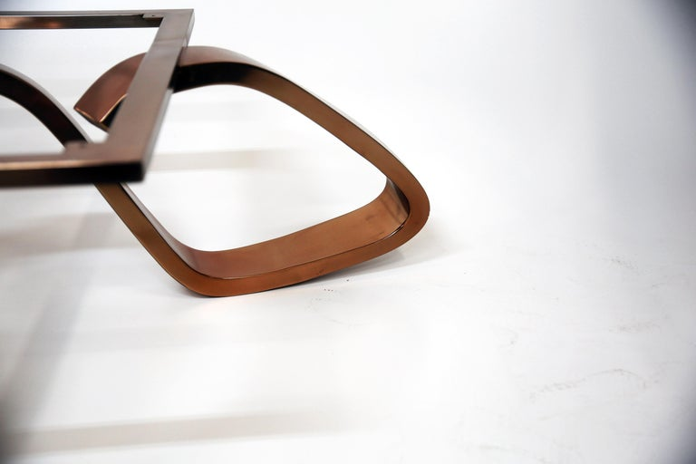 Contemporary Apate Coffee Table in Marble, Brass, Copper In New Condition For Sale In Husavik, IS