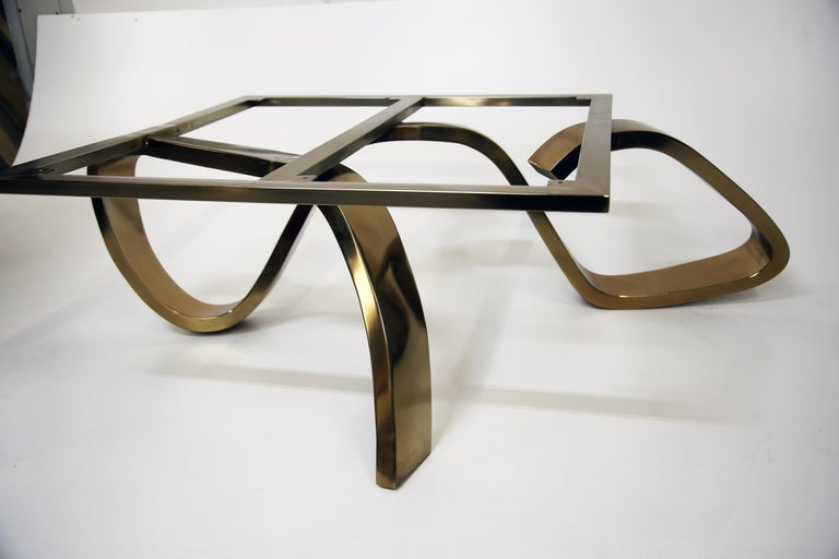 Contemporary Apate Coffee Table in Marble, Brass, Copper For Sale 1