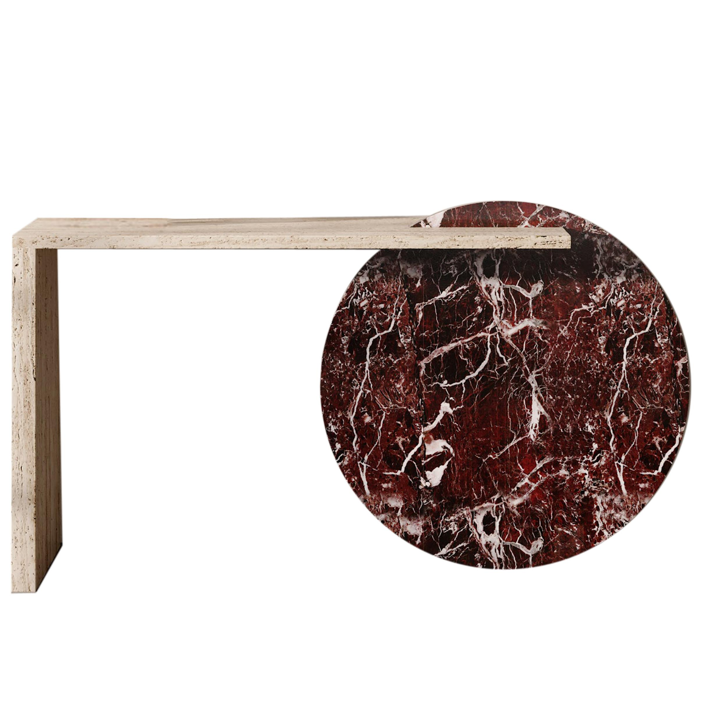 Contemporary Architectural Console Marble Table, by Chapter 101