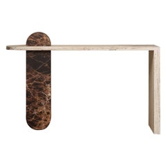 Contemporary Architectural Marble Console Table, by Chapter 101