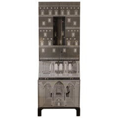 Contemporary 'Architettura' Trumeau 'Black Limited Edition' by Fornasetti