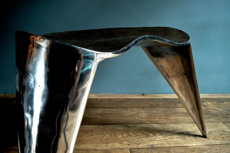 Italian Contemporary, Argo, Chair in Handcrafted Aluminium For Sale