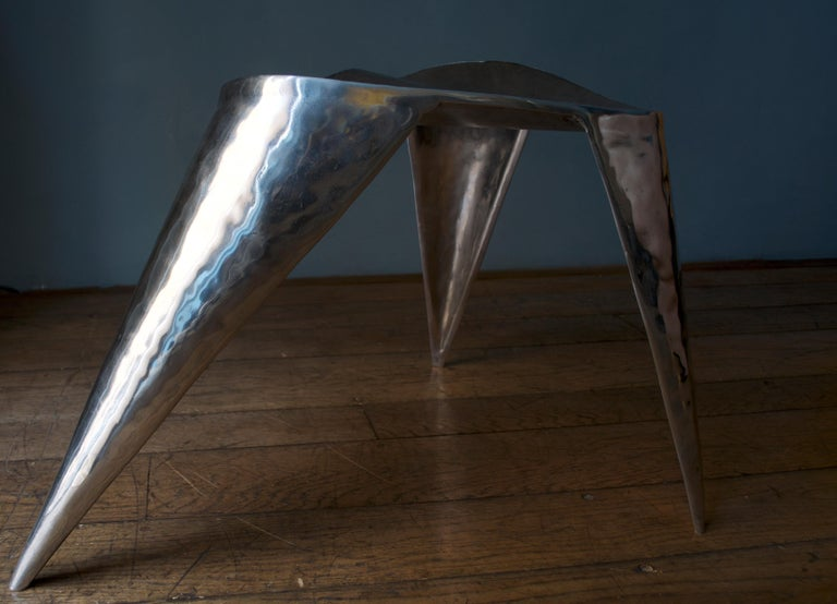 Cast Contemporary, Argo, Chair in Handcrafted Aluminium For Sale