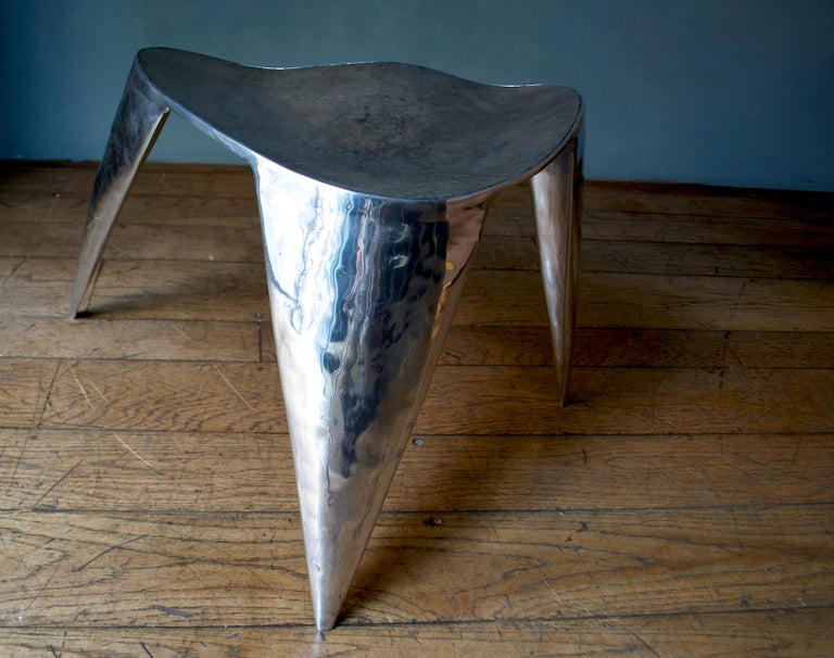 Contemporary, Argo, Chair in Handcrafted Aluminium In New Condition For Sale In Milan, Lombardy