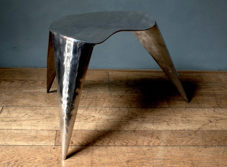 Contemporary, Argo, Chair in Handcrafted Aluminium For Sale 1