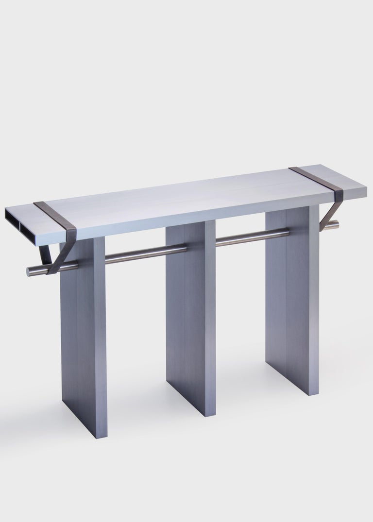 Modern Contemporary 'Arke - Double' Console in Anodised Aluminium For Sale