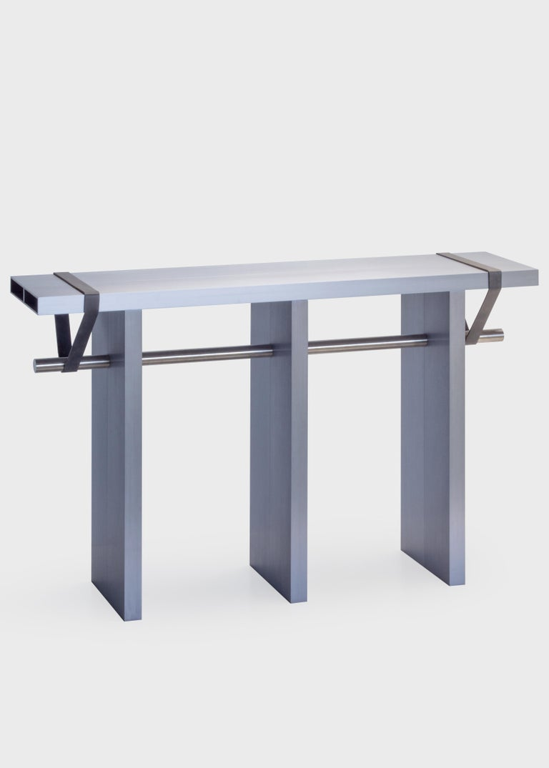 Dutch Contemporary 'Arke - Double' Console in Anodised Aluminium For Sale