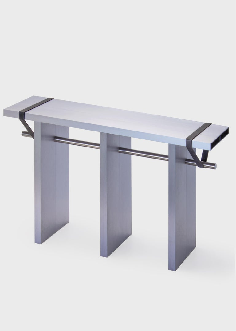 Anodized Contemporary 'Arke - Double' Console in Anodised Aluminium For Sale