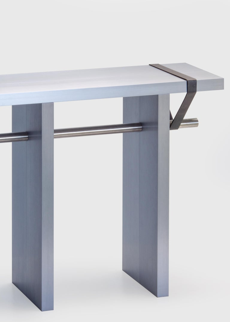 Contemporary 'Arke - Double' Console in Anodised Aluminium In New Condition For Sale In Rotterdam, NL