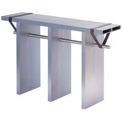 Contemporary 'Arke - Double' Console in Anodised Aluminium