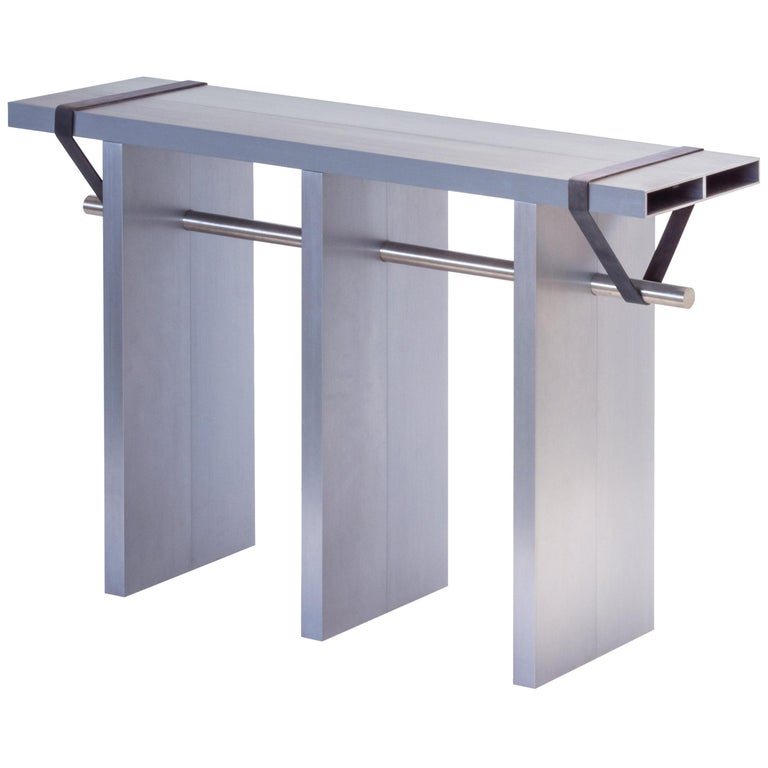 Contemporary 'Arke - Double' Console in Anodised Aluminium For Sale